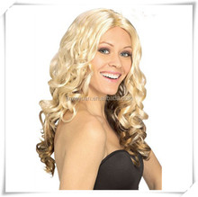 Real human hair blonde ombre wig,custom women wig