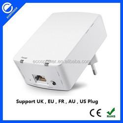 500M Wallmount PLC homeplug AV ethernet wireless powerline network adapter wifi 300Mbps 802.11N