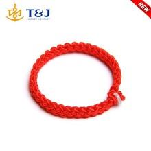 Custom China lucky red rope bracelet rope braided bracelet