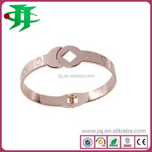 customized stainless steel friendship rose gold plated jewelry bracelets