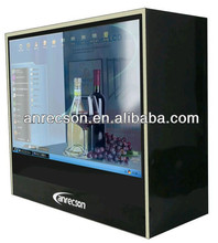 usb monitor advertising display kiosk machine digital tv set top box custom transparent lcd display