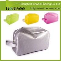 custom shape decorative handle triangle swimsuit/ garment plastic bag