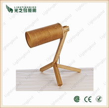 wood color wooden table lamp tripod wood lights for desk light