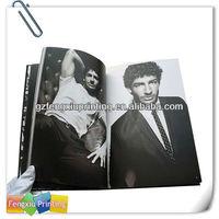 New Design Fancy Black Inches Periodicals Men Magazine Printing