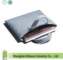 Gray Felted Business Bag / Fashion Felt Wool Laptop Bag
