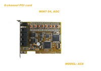 8channels PCI voice recording card TVRS system recording card voice recorder voice logger