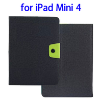 Newest Products Candy Color Leather Tablet Case for iPad Mini 4