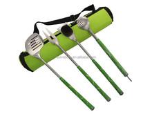 New style 4pcs golf shape bbq tool set