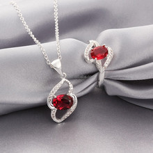 Wholesale Mixed Styles Lasies Brass Ruby Silver Jewelry Sets
