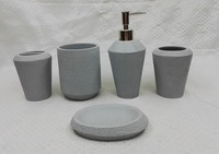 cement bathroom set, polyresin bathroom accessory