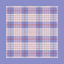 Most popular plaid design silk printing machine edge handkerchief
