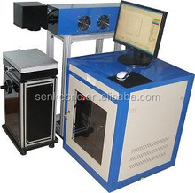 CO2 laser marking machineSKD-R series can mark date/flower/and mark on leather/wood/plastic etc