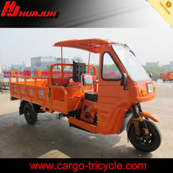 cargo tricycle with cabin for 2 adults/tricycle with cabin protect from raining and sunshine