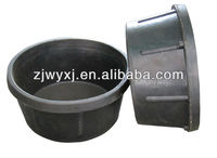 rubber feeding tub,Mini pan for animal feeding,2QT rubber trough