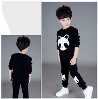 Hot Design Children Clothes 2Piece Suits Boys Girls Velvet Clothing Sets With Embroidery Bear Kids Clothing CS81107-5