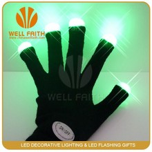 Hand gloves manufacturers in china Acrylic fibers material led glow in the dark gloves