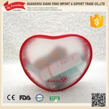 2015 New Arrival Unique Zipper Top EVA Heart Type Cosmetic Bag