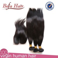 6A Virgin Brazilian Hair Queen Weave Beauty ltd With Straight Middle Part Swiss Lace Hair Weave