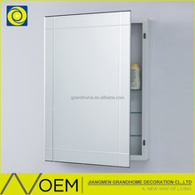 High quality made in Guangdong eco-friendly material built in corner bathroom wall cabinet