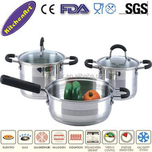 5pcs stainless steel cookware sets