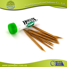 2014 Natural bamboo toothpick for after meal teeth cleaning usa flag toothpicks