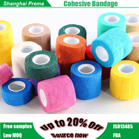 CE/FDA/ISO Qualified Non-woven Elastic Medical Cohesive Bandage Knee Support Bandage .