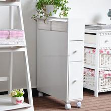 Fantastic Walnut Bathroom Furniture Side Cabinet Storage Unit Cupboard On Wheels