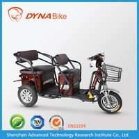 48v 500w china safe 3 wheel electric bicycle for passengers with 3 seats