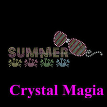 t shirt iron on letters, summer sunglass hot fix crystal motif for garment