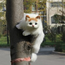 hot selling most popular fake fur small animal figurines cat toy