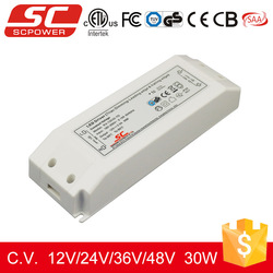 CE RoHS approved 2.5a constant voltage 30W 12V triac dimmable led driver