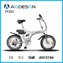 mini folding electric bike TZ201 with Babfang Brand brushless motor lightweight foldable e-bike for sale