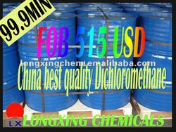 china top quality 99.95% methylenechloride solvent