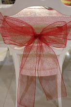 2014 Hot sale poly deco mesh wedding decoration ruffle chair sash wholesale
