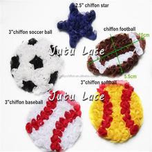 Shabby rosette trim basketball , football/rugby, soccer ball, volleyball, softball flower accessories