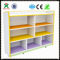 High quality toy storage shelf Nursery equipment for sale kindergarten toy shelf kids wooden toy shelf QX-201A