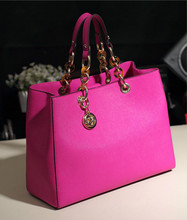 2014 fashion explosion models in Europe and America to take MK turtle cross pattern leather handbag shoulder bag chain bag hand