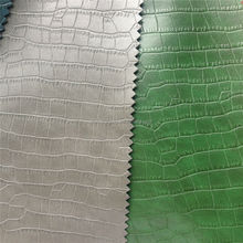 Fashion trends fake Crocodile pu synthetic leather for shoes