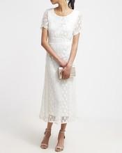 Custom design white lace overlay dress new maxi ladies dress images