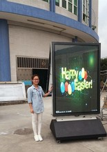 55 Inch LED Ad player move P4
