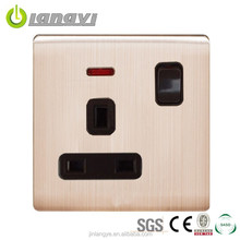Britch Professional Design UK 3Pin Socket Outlets Electrical Socket Adapte