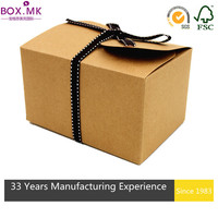 Delicate Brown Cube Cheap Cupcake Box