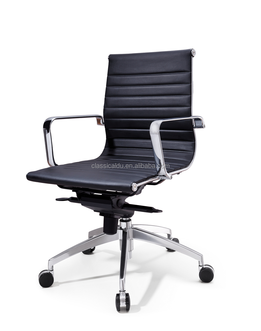 Cheap ribbed chair conference chair leather office chair for Cheap leather chairs