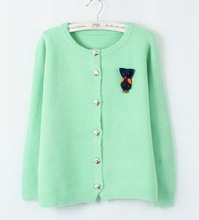 New hot high quality women clothing knitted cardigan sweater, made of arcrylic and wool, OEM and ODM orders welcomed