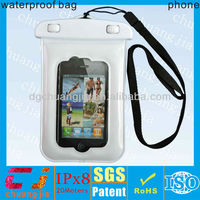 2015 pvc mobile phone waterproof cover bag with lining for iphone 4/4s