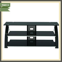 modern tempered glass tv stand recycled wood furniture okyanus home RM013