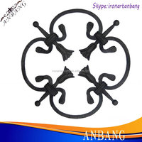 China supplier ornamental steel rosettes for window fence 6302