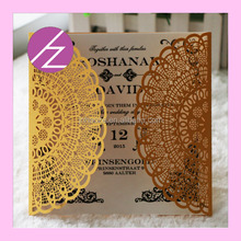 Top quality wedding invitation card paper crafts free design for you happy wedding decoration grace greeting card