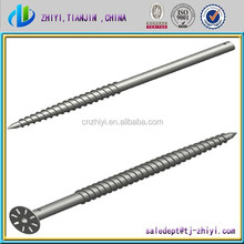 Hot dipped galvanized steel Q235 ground screw pile & ground screw for Solar Mounting