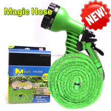 Green 75feet Flexible Adjustable Garden Water Hose with 7 Status Spray gun